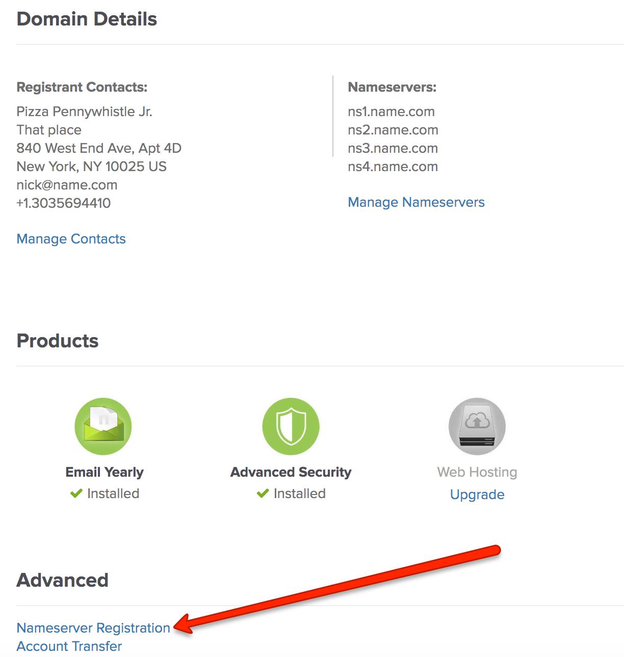 Registering custom nameservers - NameServers - Domains FAQs