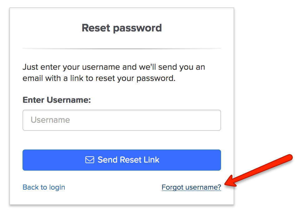 Recovering a lost or forgotten username - Security - My Account FAQs