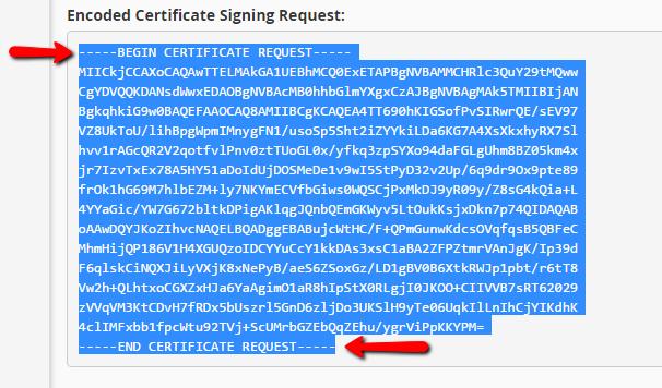 Encoded CSR code